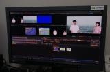 合成画面=映画『天気の子』(7月19日公開)の声優、醍醐虎汰朗&森七菜が日本気象協会を訪問