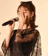 映画『ホットギミック ガールミーツボーイ』初日舞台あいさつに登場した堀未央奈 (C)ORICON NewS inc.