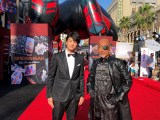 映画『スパイダーマン:ファー・フロム・ホーム』ワールドプレミアに参加した伊藤健太郎(左)と竹中直人(右)
