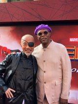 映画『スパイダーマン:ファー・フロム・ホーム』ワールドプレミアでニック・フューリー役のサミュエル・L・ジャクソンと7年ぶりに再開した竹中直人