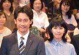 TBS『日曜劇場 ノーサイド・ゲーム』制作発表イベントに出席した大泉洋(左)と松たか子 (C)ORICON NewS inc.