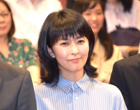 TBS『日曜劇場 ノーサイド・ゲーム』制作発表イベントに出席した松たか子 (C)ORICON NewS inc.
