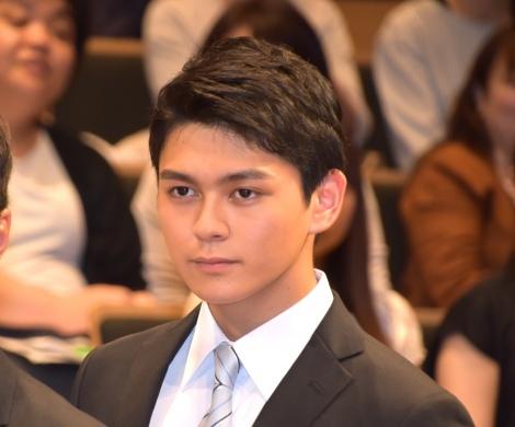 TBS『日曜劇場 ノーサイド・ゲーム』制作発表イベントに出席した眞栄田郷敦 (C)ORICON NewS inc.
