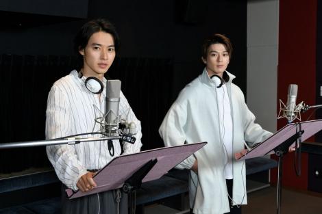 アニメーション映画『二ノ国』のアフレコに臨んだ山崎賢人&新田真剣佑