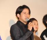 映画『ザ・ファブル』公開記念舞台あいさつに出席した岡田准一 (C)ORICON NewS inc.