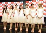 『M-ON!×OH MY GIRL』スペシャルイベントに出席したOH MY GIRL(左から)アリン、スンヒ、ジホ、ヒョジョン、ビニ、ユア、ミミ (C)ORICON NewS inc.