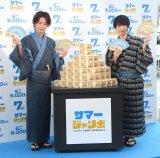 浴衣姿で登場した(左から)佐藤健、神木隆之介 (C)ORICON NewS inc.