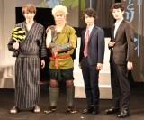 舞台『続・雷神とリーマン』の制作発表記者会見に出席した(左から)Takuya、キム・サンミン、聖矢、井上雄太 (C)ORICON NewS inc.
