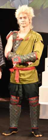 舞台『続・雷神とリーマン』の制作発表記者会見に出席したキム・サンミン (C)ORICON NewS inc.