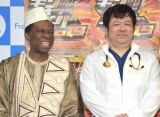 『キングオブコント2019』の記者会見に出席した現役(左から)オスマン・サンコン、現役の医師・大竹真一郎氏 (C)ORICON NewS inc.