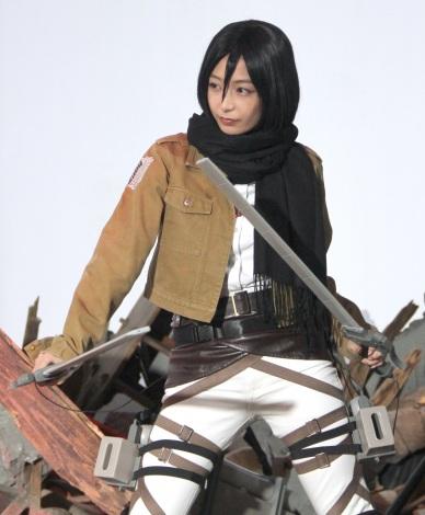『進撃の巨人』のミカサコスプレを披露した宇垣美里 (C)ORICON NewS inc.