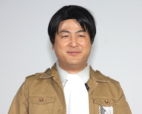 『進撃の巨人展FINAL』オープニングイベントに出席した和牛・水田信二 (C)ORICON NewS inc.