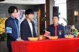 4日放送の『ぐるぐるナインティナイン』に出演する中島健人(Sexy Zone)、増田貴久(NEWS)、岡村隆史(ナインティナイン) (C)日本テレビ