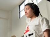 アムステルダムオリンピックに女子一人で出場した絹枝(菅原小春)は…(C)NHK