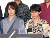 映画『GOZEN-純恋の剣-』の公開記念舞台あいさつに出席した(左から)犬飼貴丈、武田航平 (C)ORICON NewS inc.