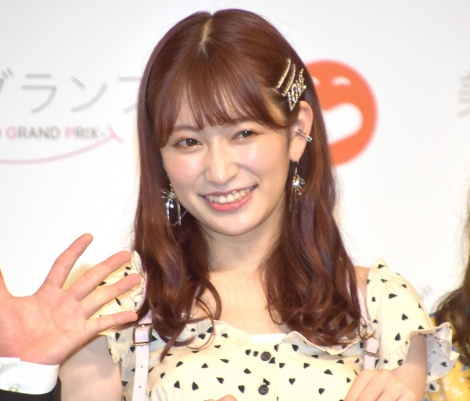 オーディション『美笑女グランプリ』開催発表会見に参加したNMB48・吉田朱里 (C)ORICON NewS inc.