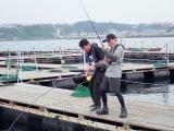 日本テレビ系『スッキリ』の海の日SP企画で初共演する加藤浩次とサカナクション・山口一郎(C)日本テレビ