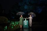 『ビーズハーバリウムinヒビヤアカリテラス2019点灯式』に参加した(左から)横澤夏子、翔