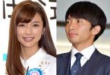 (左から)真野恵里菜、柴崎岳選手(C)ORICON NewS inc.