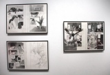 『画業30周年記念 小畑健展 NEVER COMPLETE』に展示している原稿 (C)ORICON NewS inc.