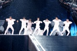 雨の中、全24曲を熱演したBTS(静岡・エコパスタジアム) Photo by Big Hit Entertainment
