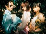『LARME 041 SEPTEMBER』に登場する(左から)山本舞香、中村里砂、ゆら