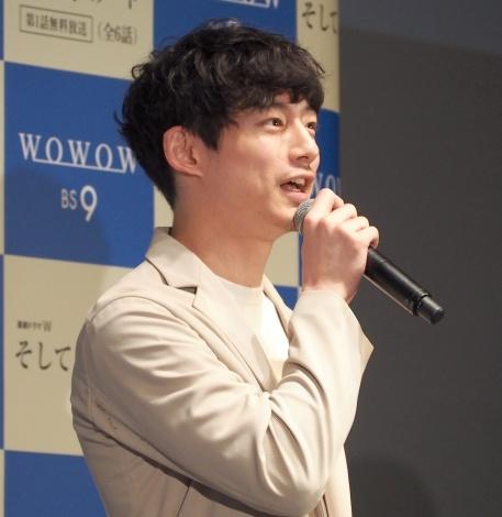 WOWOW『連続ドラマW そして、生きる』完成披露試写会に登壇した坂口健太郎 (C)ORICON NewS inc.