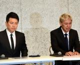 謝罪会見を行った(左から)宮迫博之、田村亮 (C)ORICON NewS inc.