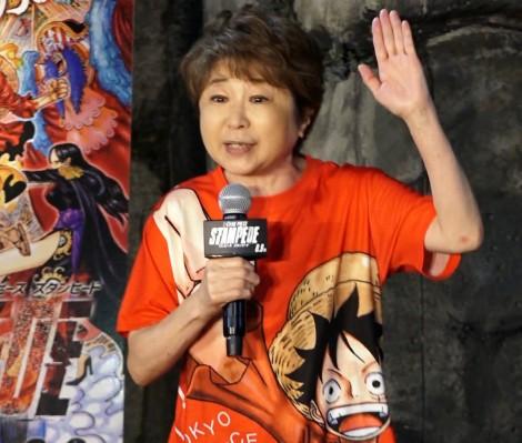 劇場版『ONE PIECE STAMPEDE』キッズ海賊万博イベントに出席した田中真弓 (C)ORICON NewS inc.