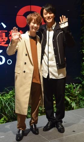(左から)小越勇輝、廣瀬智紀=映画『探偵は、今夜も憂鬱な夢を見る。2』トークショー (C)ORICON NewS inc.