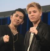 (左から)TAKA、比嘉涼樹=新ボーカリストオーディション『DEEP VOCALIST AUDITION』のファイナル審査 (C)ORICON NewS inc.