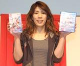 セガゲームス新作ゲーム『東京2020オリンピック The Official Video Game』CM発表会に出席した 吉田沙保里 (C)ORICON NewS inc.