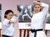 毎日新聞社テレビCM発表会に出席した(左から)岩本衣美里選手、是永瞳 (C)ORICON NewS inc.