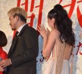 映画『人間失格 太宰治と3人の女たち』のジャパンプレミアに参加した(左から)小栗旬、沢尻エリカ (C)ORICON NewS inc.