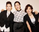 『Diner ダイナー』舞台あいさつに出席した(左から)沙央くらま、真矢ミキ、真琴つばさ (C)ORICON NewS inc.