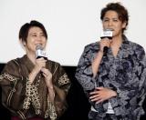 『ペット2』公開記念舞台あいさつに出席した(左から)梶裕貴、宮野真守 (C)ORICON NewS inc.