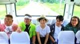 (左から)伊達みきお、富澤たけし、草刈民代、間宮祥太朗、ロッチ中岡(C)テレビ朝日