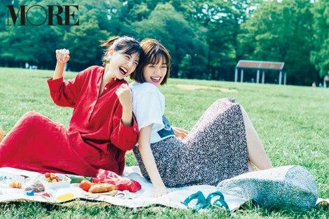 サムネイル 『MORE』9月号に登場する(左から)佐藤ありさ、佐藤栞里