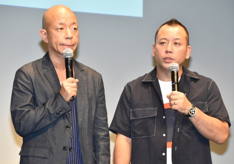 吉本芸人の復帰に言及したバイきんぐ(左から)小峠英二、西村瑞樹=『LINE:ディズニーツムツム』真夏の新ツム発表会 (C)ORICON NewS inc.
