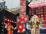 『競泳ワールドカップ2019東京』記者会見では海外からの参加選手を歌舞伎の人気演目・連獅子(イベントオリジナルVer.)でおもてなし (C)ORICON NewS inc.