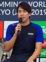 『競泳ワールドカップ2019東京』記者会見に出席した松元克央選手 (C)ORICON NewS inc.
