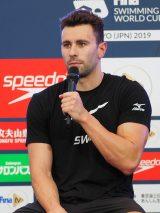 『競泳ワールドカップ2019東京』記者会見に出席したブレイク・ピエロニ選手(米国) (C)ORICON NewS inc.