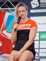 『競泳ワールドカップ2019東京』記者会見に出席したカティンカ・ホッスー選手 (C)ORICON NewS inc.