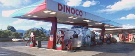 ディズニー/ピクサー映画『トイ・ストーリー4』隠れネタ=ガソリンスタンドのダイナコ(C)2019 Disney/Pixar. All Rights Reserved.