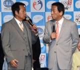 『知って、肝炎プロジェクトミーティング2019』に出席した(左から)山本譲二、杉良太郎 (C)ORICON NewS inc.