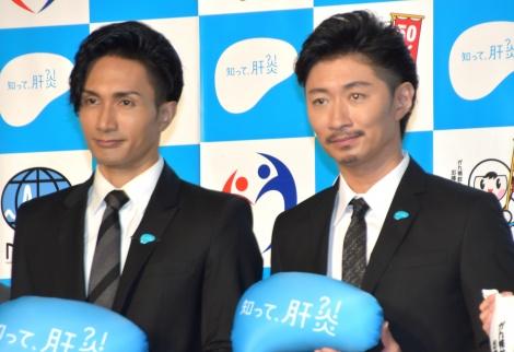 『知って、肝炎プロジェクトミーティング2019』に出席した(左から)橘ケンチ、MAKIDAI (C)ORICON NewS inc.