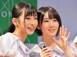(左から)沖侑果、甲斐心愛=STU48 3rdシングル「大好きな人」発売記念イベント (C)oricon ME inc.