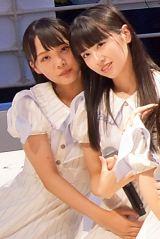 (左から)福田朱里、中村舞=STU48 3rdシングル「大好きな人」発売記念イベント (C)oricon ME inc.