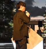 『ROOF TOP ORCHESTRA-音を奏でる庭園-』のメディア先行取材会に参加した山口一郎 (C)ORICON NewS inc.