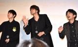 映画『二ノ国』声優ドリームチームスペシャルイベントに登壇した(左から)梶裕貴、宮野真守、津田健次郎 (C)ORICON NewS inc.